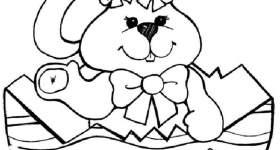 disegno feste e ricorrenze colorare pasqua coniglio dentro uovo