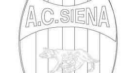 disegno logo squadra calcio colorare siena