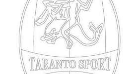 disegno logo squadra calcio colorare taranto