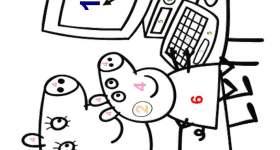 disegno peppa pig colorare mamma numeri